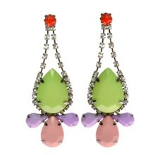 Lime & Pastel Drop Earrings