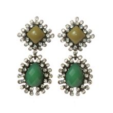 Erin Elizabeth Green Drop Earrings