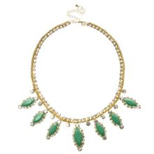 Erin Elizabeth Mint Drop Collar Necklace