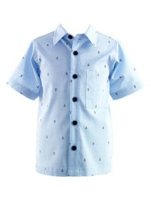 Boys oxford anchor shirt