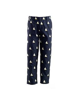 Girls sailboat embroidered pants