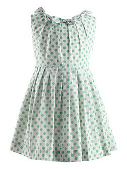 Girls polka dot shimmer dress