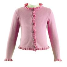 Rachel Riley Girls Frill Cardigan