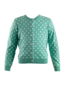 Rachel Riley Girls polka dot cardigan