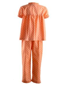 Rachel Riley Girls polka dot frill pyjamas