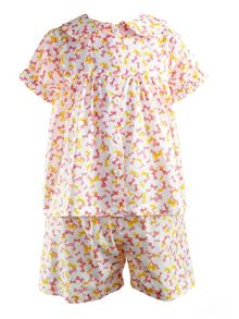 Girls bow babydoll pyjamas