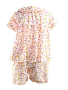 Rachel Riley Girls bow babydoll pyjamas
