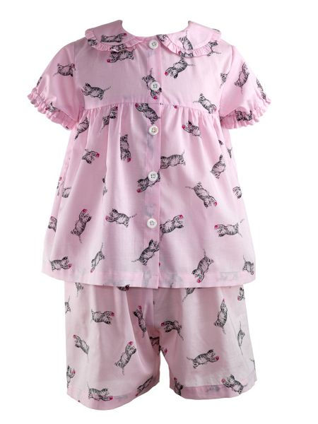 Rachel Riley Girls cat babydoll pyjamas
