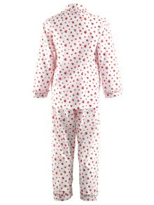 Girls heart frill pyjamas