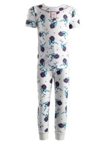 Girls violet jersey pyjamas