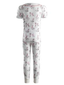 Girls poodle jersey pyjamas