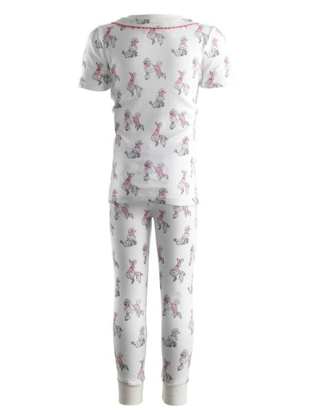 Rachel Riley Girls poodle jersey pyjamas