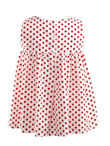 Rachel Riley Girls polka dot babydoll top