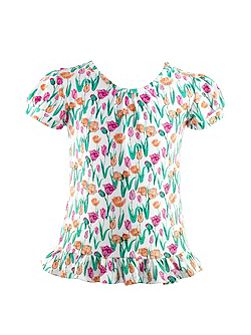 Girls Tulip Print Top