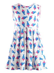 Rachel Riley Girls icecream print jersey dress