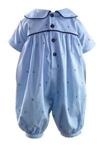 Baby boys oxford anchor babysuit