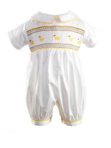 Baby girls chick smocked babysuit