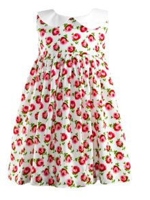 Baby girls rose dress & bloomers