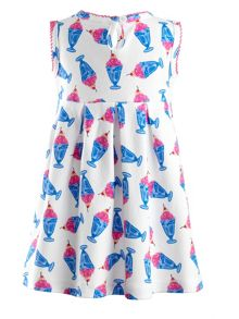 Baby girls ice cream jersey dress