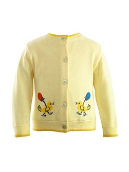 Baby girls chick intarsia cardigan