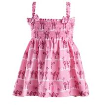 Baby girls flamingo ruched dress