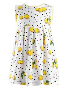 Rachel Riley Baby girls lemon jersey dress & bloomers