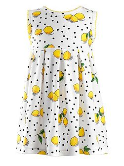 Baby girls lemon jersey dress & bloomers