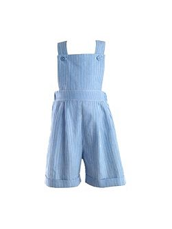 Baby boys striped dungarees