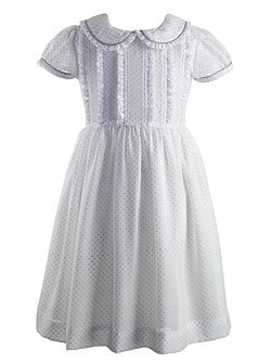 Girls glitter dot frill dress