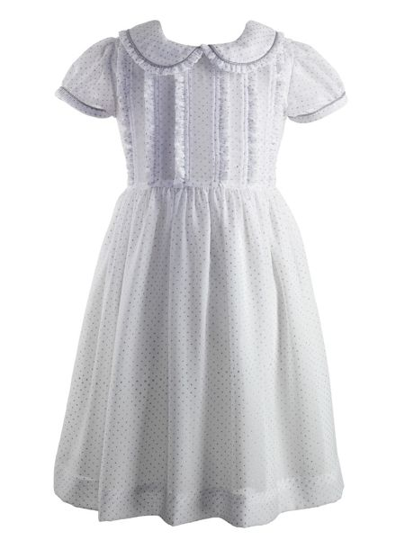 Rachel Riley Girls glitter dot frill dress