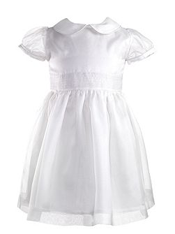 Girls silk organza pintuck dress