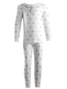 Rachel Riley Girls crown jersey pyjamas