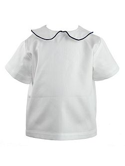 Baby Boys Rounded Collar Shirt