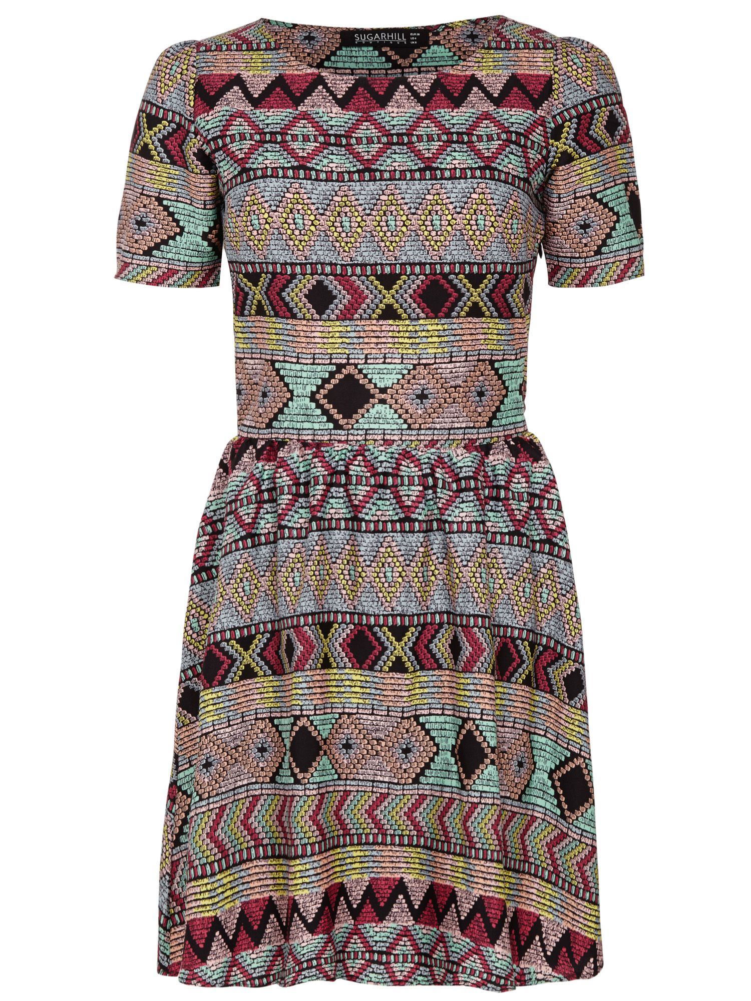 Mexican tile skater dress
