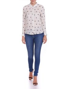 Sugarhill Boutique Heart Print Shirt