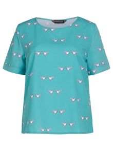 Sugarhill Boutique Lovebird Print T-shirt Top