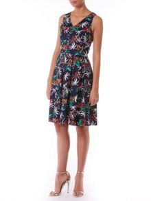 Saran fit and flare dress