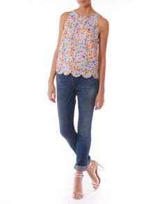 Poppy Lux Phoebe floral shell top