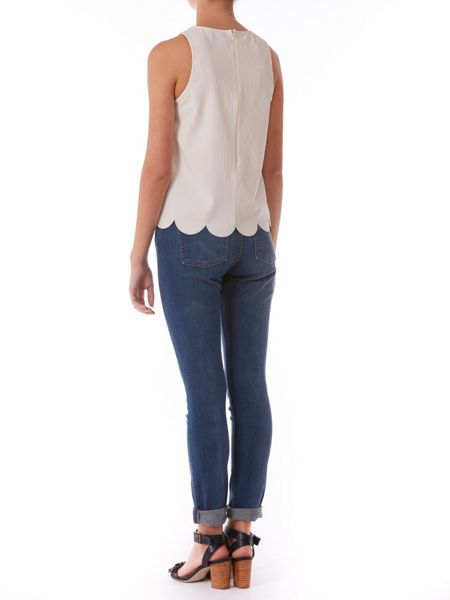 Poppy Lux Phoebe scallop shell top