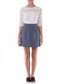 Sugarhill Boutique Hayley Spot Jacquard Skirt
