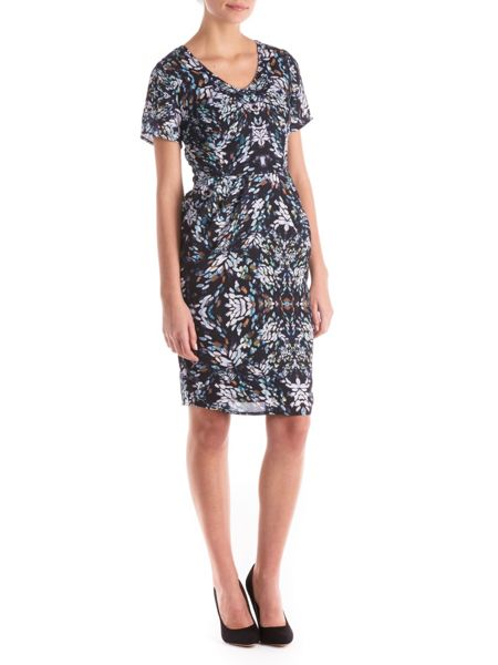 Sugarhill Boutique Gayna Blurred Spot Shift Dress