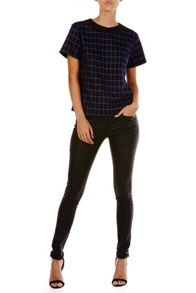 Poppy Lux Olina Checked Tee Top