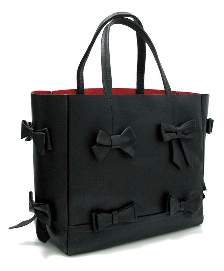 Marta Jonsson leather grab bag with bows
