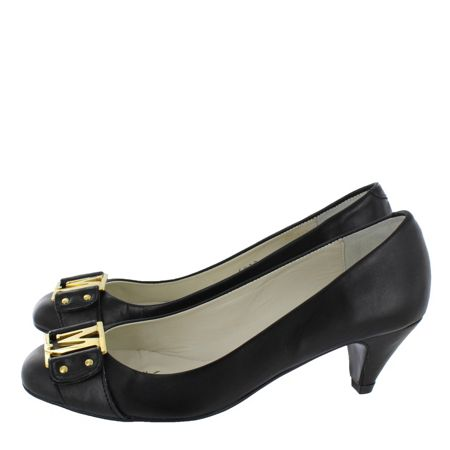 Marta Jonsson Leather mid heel court shoe