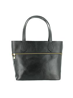 Shoulder bag with zip detail