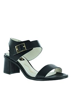 sandal with block heel