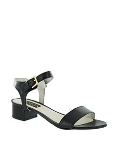 Women`s Low Heel Sandal with Buckle