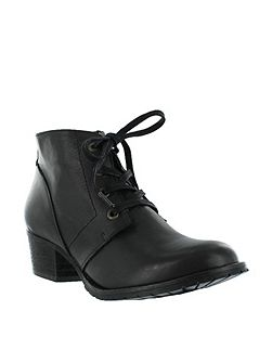Leather lace up ankle boots