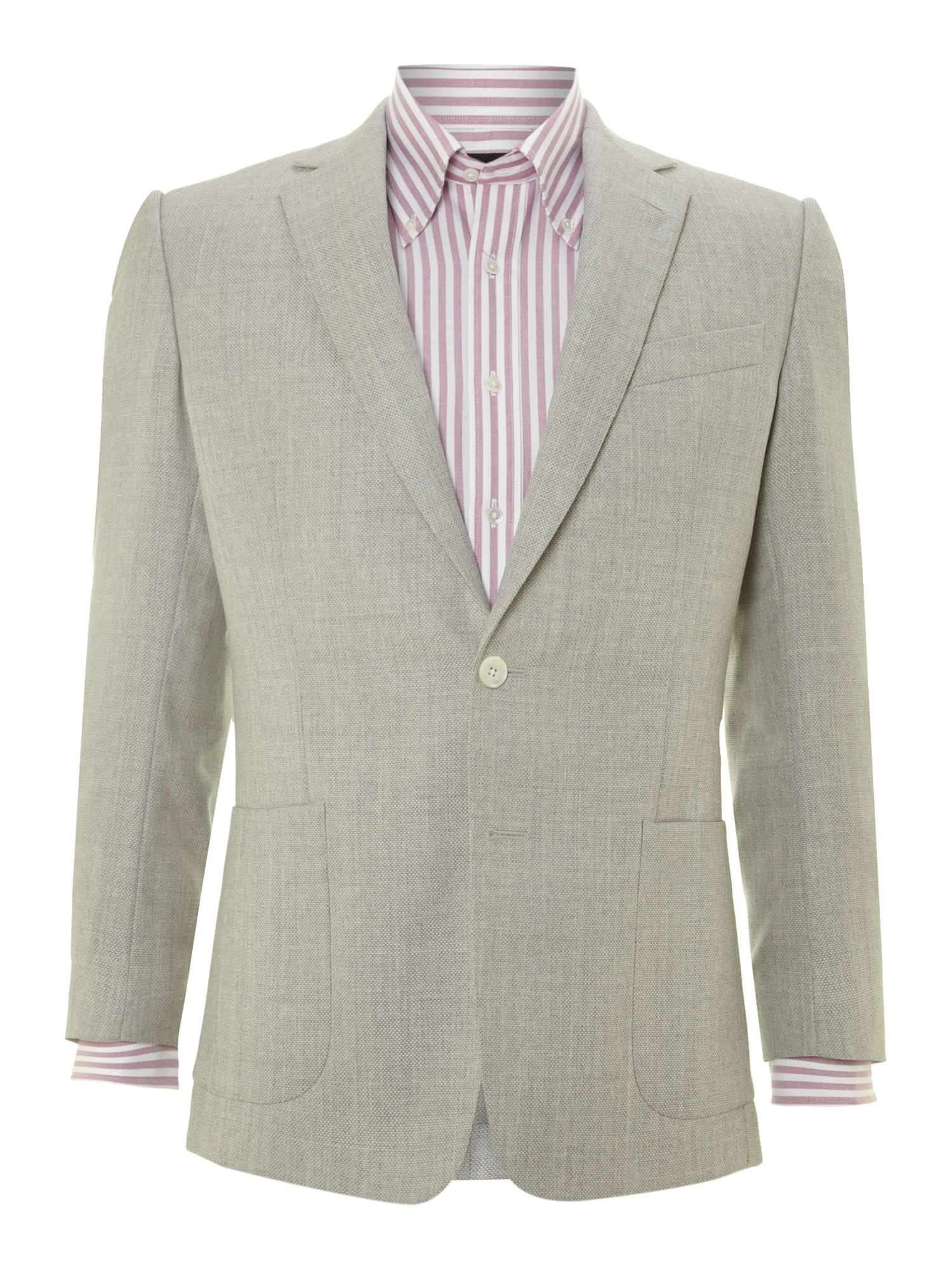 Mesh wool contemporary jacket