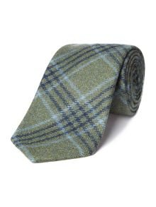 Pure wool tweed tie